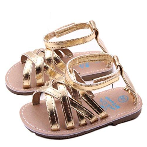 Culater Baby Mädchen Luxus Prinzessin Schuhe Draussen Sandalen (11, Gold ) (Kinder Geboren Schuhe Mädchen)