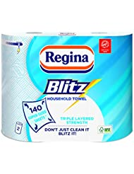 Regina Blitz Original 140 Extra Large Triple Layer Sheets, 2 Rolls