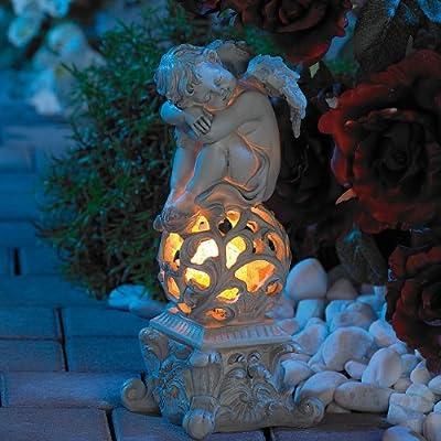 """Lunartec Gartendekoration """"Träumender Engel"""" mit Solar-LED-Beleuchtung von Lunartec bei Lampenhans.de"""