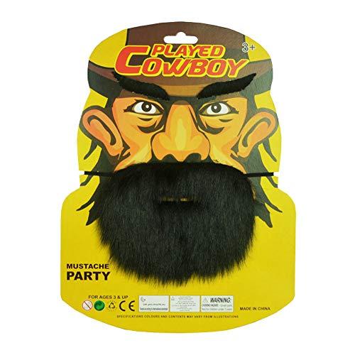 SpringPear® Baffi Finti + Sopracciglia Barba Finta Falso Autoadesivo per Adulti Halloween Carnevale Costume Decorazione Partito Cosplay dei Pirati
