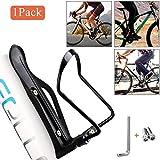 QNFY Bici Porta borracce, Portabottiglie per Biciclette Regolabile Gabbia della Bottiglia d'Acqua   Lega di Alluminio per Road & Mountain Bikes (Nero)