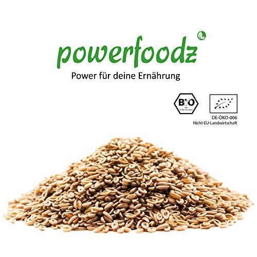 Powerfoodz – 1kg Bio Flohsamen ganz Premium Qualität – 99% reine ganze Bio Floh Samen – Vegan Lactosefrei Glutenfrei