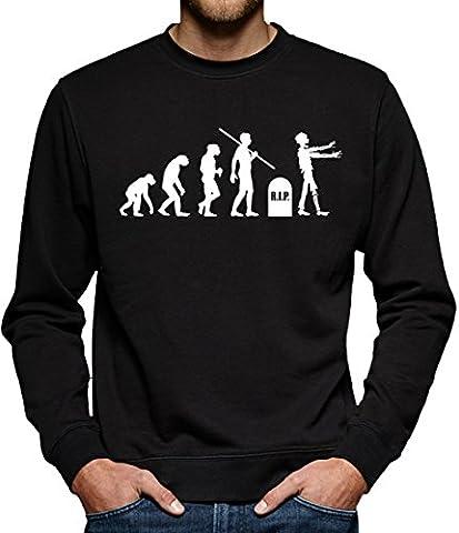 TLM Evolution Zombies Sweatshirt Pullover Herren M Schwarz