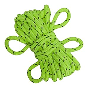 Summit Hi Vis Guy Ropes with Tensioners - Green