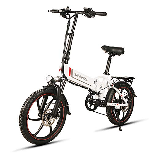 Nishore Bicicleta Eléctrica Plegable 20 Pulgadas Power Assist Electric Bicicleta E-Bike Scooter 350W Motor Borde Combinado - MAX. Carga 150kg...