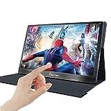 Prechen Monitor portatile Touch USB da 15,6 pollici Risoluzione 1920x1080 con doppia interfaccia HDMI Computer portatile compatibile con PS3 / PS4 XBOX360 compatibile con USB Raspberry pi 1 2 3