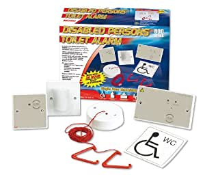 C-Tec NC951 White Standard Disabled Toilet Alarm Kit With Single Zone Controller, Ceiling Pullcord, Overdoor Light With Sounder, Reset Button & Disabled WC Sticker by C-Tec