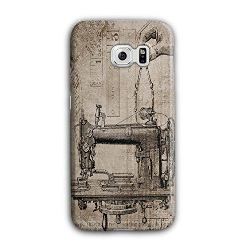 Wellcoda Nähen Maschine RetroHülle für Samsung Galaxy, S6 Edge mechanisch Rutschfeste Hülle - Slim Fit, Schutzhülle, bequemer Griff - Nähen Maschinen-industrielle