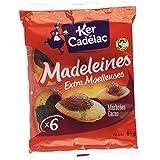 KER CADELAC Barquette Madeleines Cacao 84 g - Lot de 4