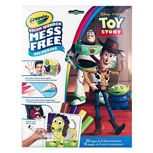 Crayola Color Wonder Mess Free Colouring Toy Story - 18 Pages and 4 Mini Markers (Color Wonder Mini)