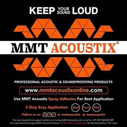 "MMT Acoustix® Soundproofing Aerial Acoustic Foam 1x1 Feet 1.3"" (Set Of 18) MMT Orange"