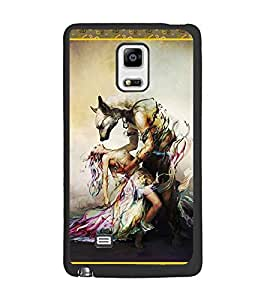 PrintDhaba Beauty and the Beast D-2526 Back Case Cover for SAMSUNG GALAXY NOTE EDGE (Multi-Coloured)