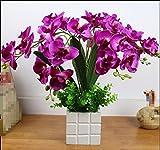 JFWMZyq Künstliche Blumen Topfpflanzen Home Dekoration Lila Freesie