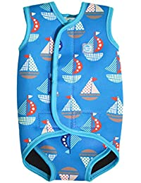 Splash About Baby Wrap - Traje de neopreno para niños, color azul, con diseño de barcos, 18-30 meses