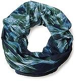 styleBREAKER Flammen Muster Batik Style Loop Schlauchschal 01018041 (Blau-Grün)