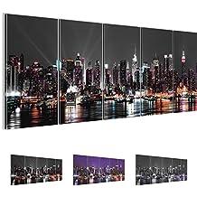 Bilder 200 x 80 cm ! SENSATIONSPREIS ! New York Bild - Vlies Leinwand - Kunstdrucke -Wandbild - XXL Format - mehrere Farben und Größen im Shop - Fertig Aufgespannt !!! 100% MADE IN GERMANY !!! - NY Skyline 601955a
