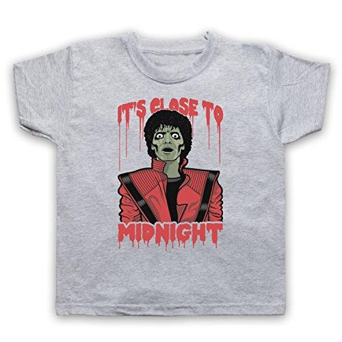 Inspiriert durch Michael Jackson Thriller Unofficial Kinder T-Shirt, Grau, 5-6 Jahren