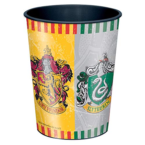 Unique Party 59107, Taza de Plástico Harry Potter, 16oz, Modelos Surtidos