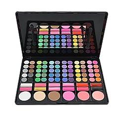 Idea Regalo - DISINO - Kit per trucco, fard e palette di ombretti, prodotto cosmetico, colori luminosi e dinamici, professionale, 78colori, modello 3
