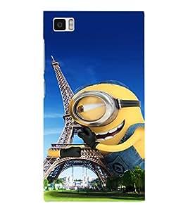 EPICCASE Minion in paris Mobile Back Case Cover For Xiaomi Mi3 (Designer Case)