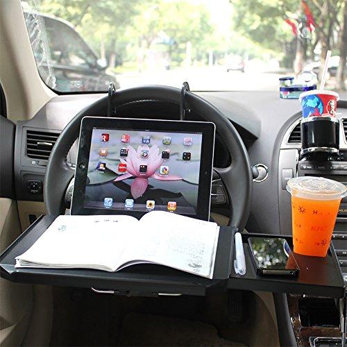 Auto Computer Schreibtisch, Multifunktions Auto Computer Schreibtisch Rack mit Schublade Maus Tablett Tisch Laptop Notebook Schreibtisch Tisch Auto Essen Essen Trinken Schreibtisch Tasse Inhaber