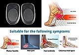 Einlegesohle mit Fersenpad aus Silikongel bei Fernsensporn, Plantarfaszilitis und damit verbundenen Schmerzen & zum Dämpfen von Stößen