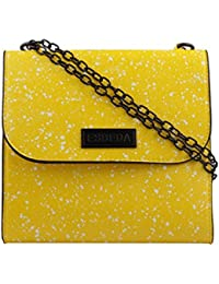 ESBEDA Yellow Printed PU Synthetic Slingbag For Women
