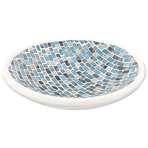 Something Different - Assiette bougie mosaïque (Taille unique) (Bleu)