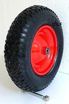 Schubkarrenrad luftbereift 4.80/4.00-8- inkl. Achse Ø 380mm - 92mm Breite - 200kg von S+S Im- und Export GmbH - Du und dein Garten