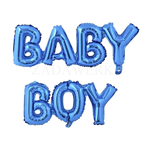 Miss Bakery's House® Ballon - Folie - Baby Boy - Blau - Deko Baby-Party (Baby Boy Ballon)