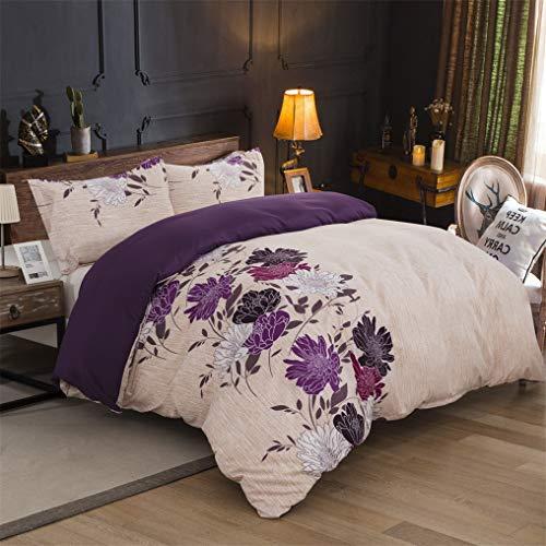 Stillshine Juego Funda nórdica 3D Flowers Purple