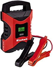 Einhell Batterie Ladegerät CC-BC 10 M (für Batterien von 3-200 Ah, Ladespannung 6 V/12 V, Winterlademodus, LCD-Batteriespannungs- und Ladefortschrittsanzeige)