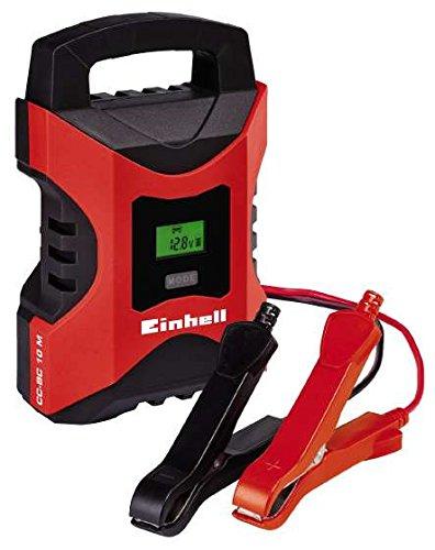 einhell batterie ladegeraet Einhell Batterie Ladegerät CC-BC 10 M (für Batterien von 3 - 200 Ah, Ladespannung 6 V / 12 V, Winterlademodus, LCD-Batteriespannungs- und Ladefortschrittsanzeige)