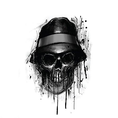 Apple iPhone 3Gs Case Skin Sticker aus Vinyl-Folie Aufkleber Totenkopf Hut Skull DesignSkins® glänzend