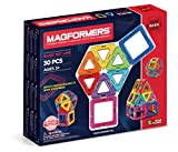 Magformers- Magnetic Bloks Forme Geometriche Elementari-18 Quadrati e 12 Triangoli, Multicolore, 701005