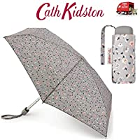 Cath Kidston Alpine Ditsy Stone Tiny Flat Handbag Size Folding Umbrella With Matching Cover 8F3734