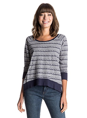 Roxy Damen Pullover Jamaica Farewell Sweater, Eclipse, M, ERJKT03068-BTC0 (Rib Damen Jacquard)
