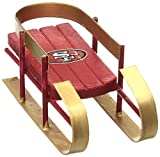 NFL San Francisco 49ers 2014 Resin Sled Ornament, Red, One Size