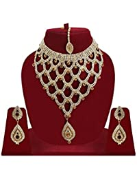Stylish Latest New Stylish Fashionable Gold-Plated Traditional Necklace Set With Earrings, Designer Necklace Set...