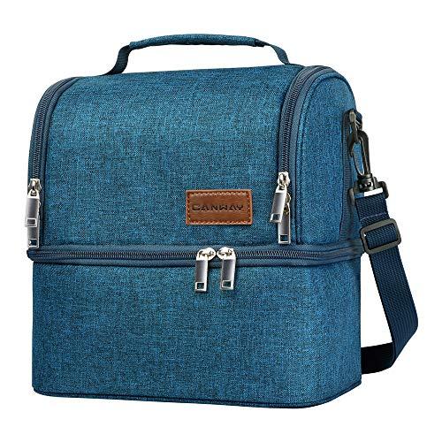 CANWAY Kühltasche Eistasche Picknicktasche Lunch Tasche Klappbar Faltbar (Blau)