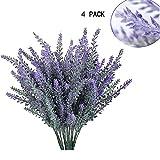 GKONGU Pure Lavanda Artificial Flores romántico nieve de lavanda Ideal para decoración del hogar...