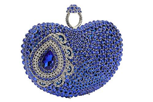 Yilongsheng femmes cristal faite main soirée sacs pour la fête bleu