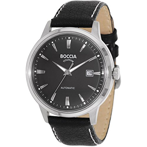 Boccia Unisex automatic Watch with black Dial Analogue Display - 3586-02