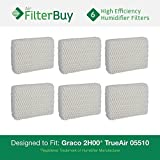 6 - Graco 1.5 Gallon Humidifier Filters. Designed by FilterBuy to fit Graco 2H00 and TrueAir 05510. Replaces Part # 2H01.