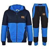 A2Z 4 Kids® Kinder Trainingsanzug Jungen Mädchen Designer A2Z PROJECT Abzeichen - T.S A2Z Project Royal Navy 7-8