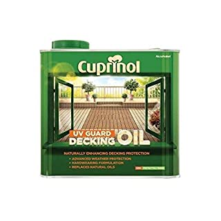 New 2014 Cuprinol UV Guard Decking Oil Natural Oak 5L
