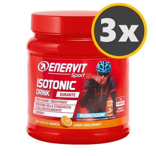 3 Enervit Isotonic Drink 420 g. gusto Arancio Reidratazione Maratona Dles Dolomites Enel 2018