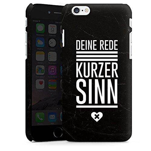 Apple iPhone X Silikon Hülle Case Schutzhülle Leben Sinn Spruch Premium Case matt