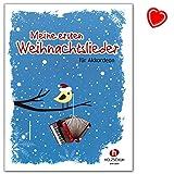 Mon premier Noël chansons-22chansons pour les cours début de Noël (Accordéon)-Auteur: Ralf étage-Note livre avec coloré Cœur Note Pince