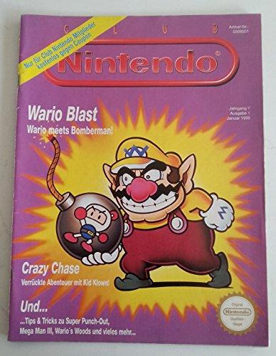 Club Nintendo Magazin SNES Super Nintendo NES GB (u.a. über Wario Blast Super Punch Out Pac-Man 2 Illusuion of Time Mega Man 3 Duck Tales Secret of Mana Tetris & Dr. Mario Spieleberater Zeitschrift Ausgabe 1 Jan 1995